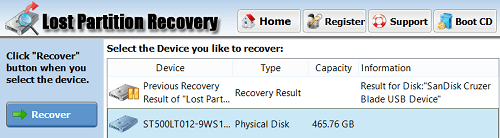 Damaged and Lost partition Recovery