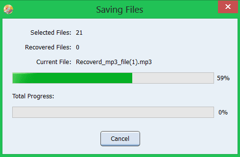 saving recovered files