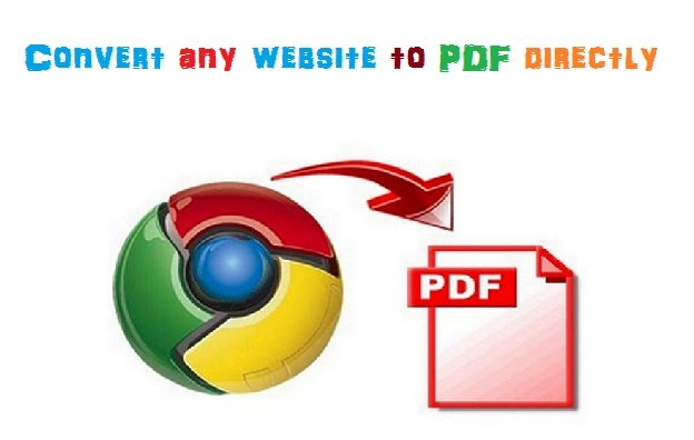 Convert any website to PDF without any converter