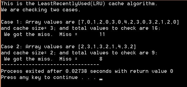 Least recently used cache algorithm mindxmaster