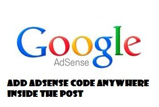 adsense in blogger post