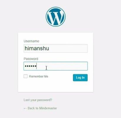Admin panel of wordpress - install WordPress locally with ampps on windows