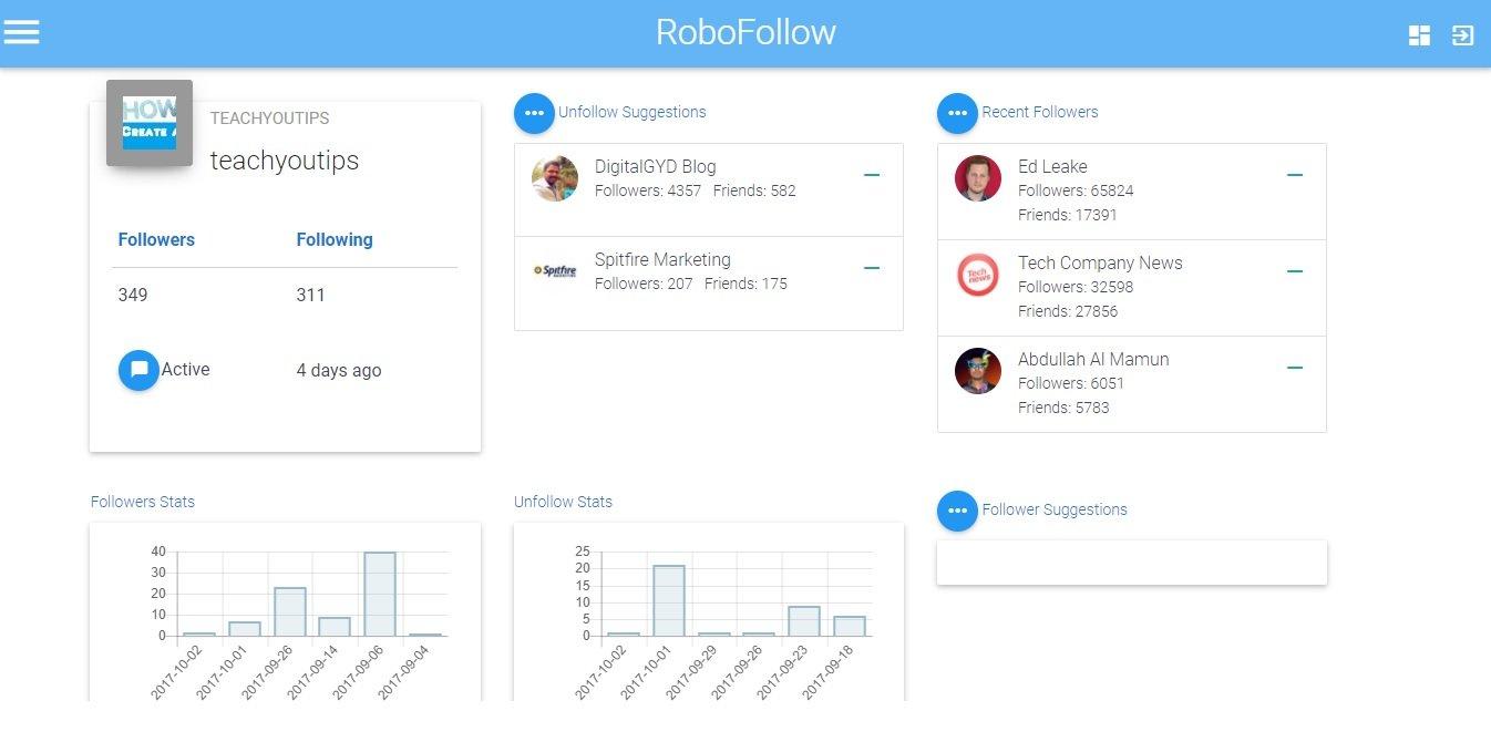robofollow free twitter unfollow tools