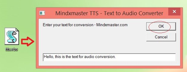 Text to voice converter using Notepad
