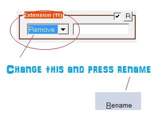 file extension changer - remove files extension in bulk