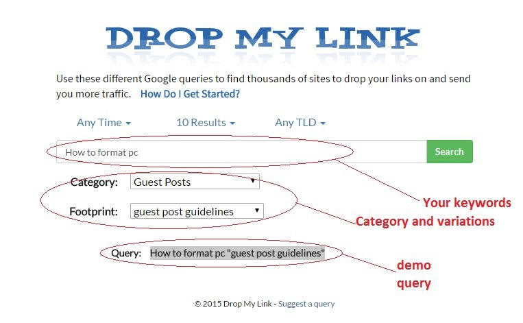 dofollow blogs with high page rank using drop my link