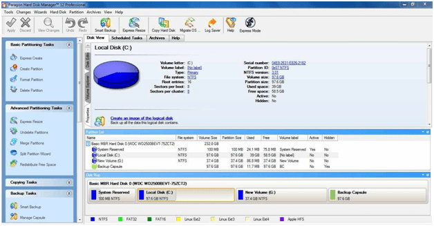 Paragon Hard Disk Manager  - partitioning software review