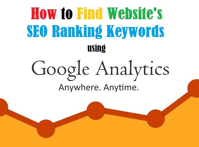 how to find SEO keywords in google analytics