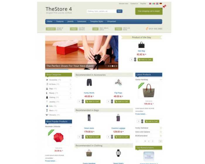 IT The Store 4-Ice Theme VirtueMart Joomla Template