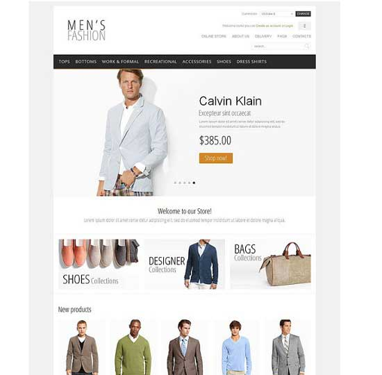 Men's Fashion- from Flash Mint VirtueMart Template