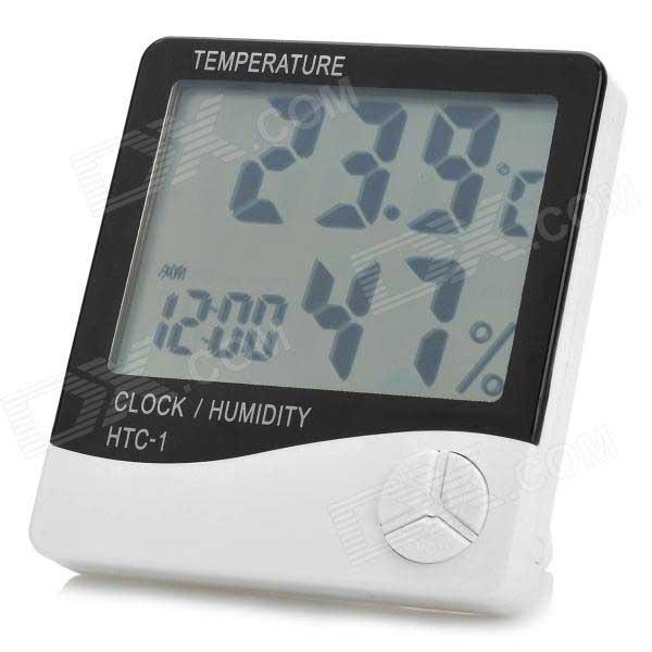 digital LCD temperature Humidity Meter Alarm Clock Temp