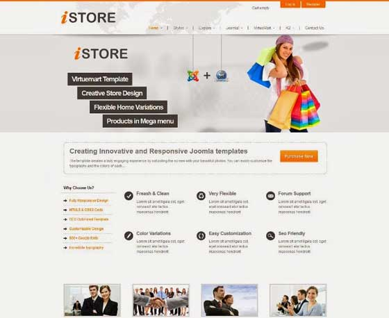 Sharper iStore VirtueMart Template