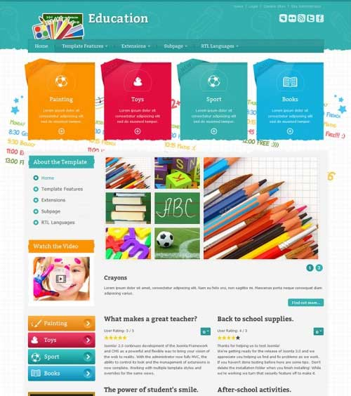 M-School-Tools Store VirtueMart Template