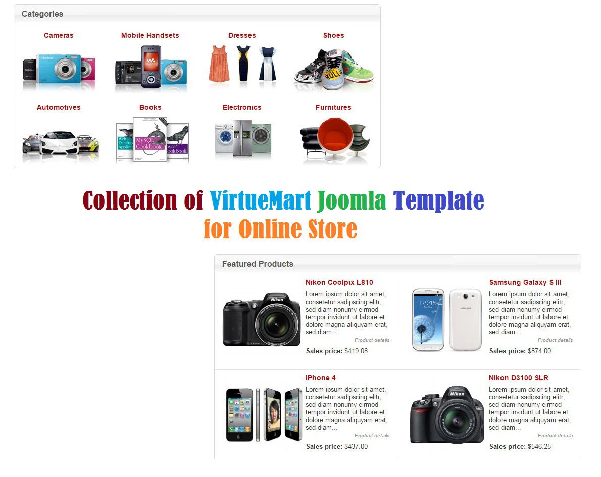 Best Collection of VirtueMart Joomla Template for Online Store