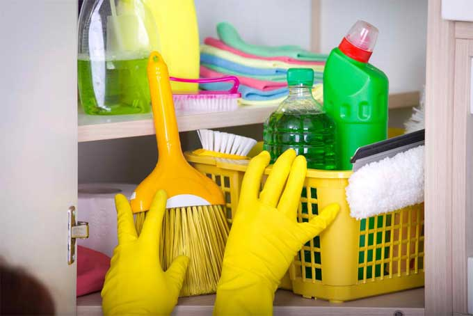 Store your self-made detergent in a place away from a child's reach.
