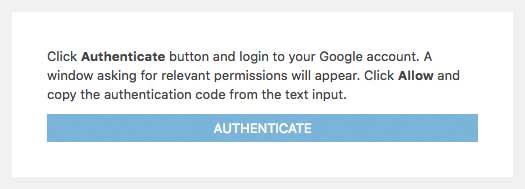 Google Analytics WD plugin installation