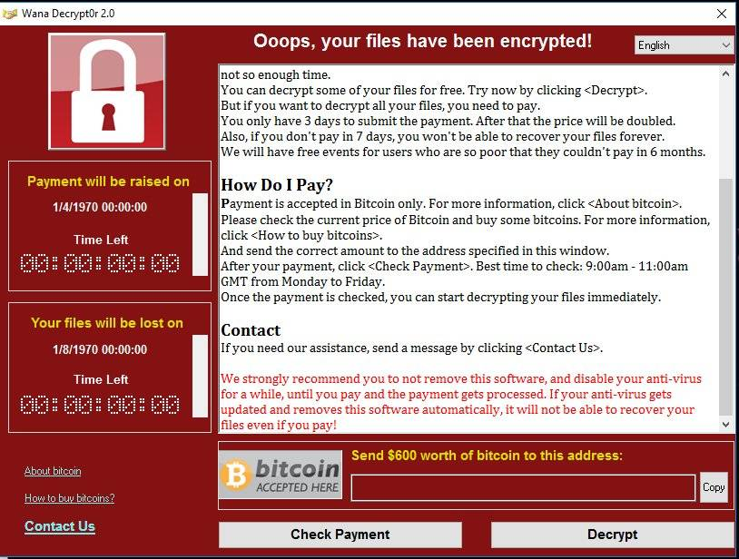 deal with WannaCry Ransomware and Decryptor