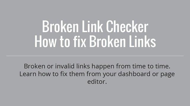 Find Fix Broken Links
