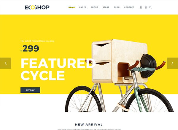 Ecoshop e-commerce wordpress themes