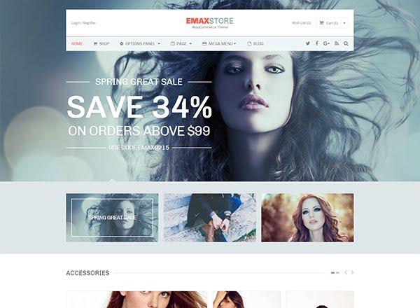 eMAX store e-commerce wordpress themes
