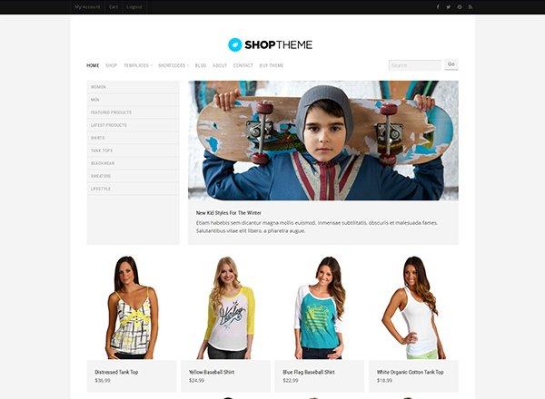 Shop theme wordpress e-commerce theme