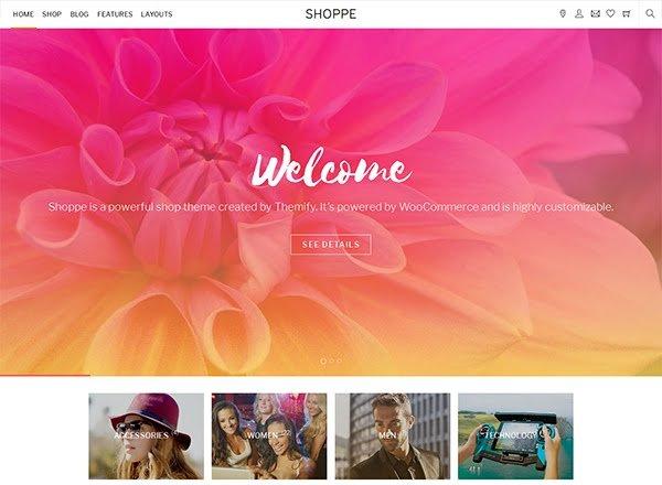 shoppe e-commerce wordpress themes