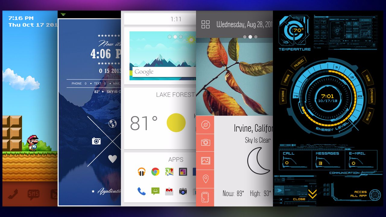 Removing Live Wallpapers, Excess Widgets, Custom Launchers and Animations