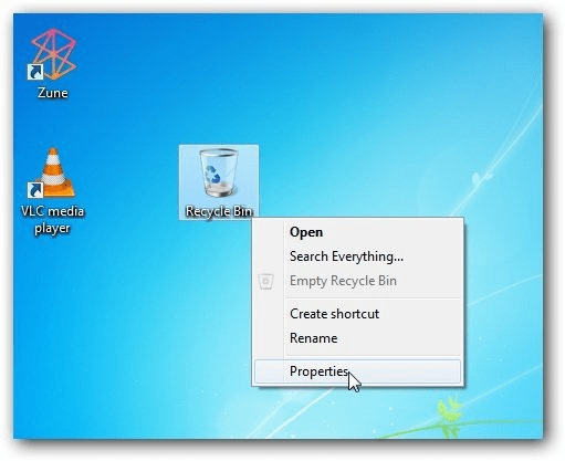 Recycle bin:Take Up Space on Your Computer