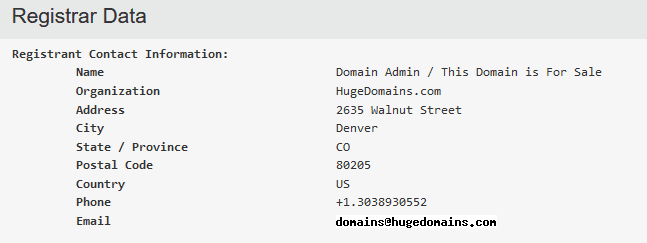 Edit Domain's WhoIs Records