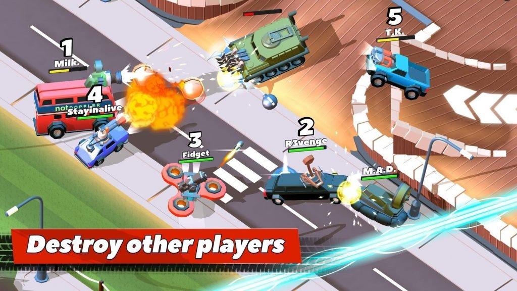 Crash of cars - top best combat racing games