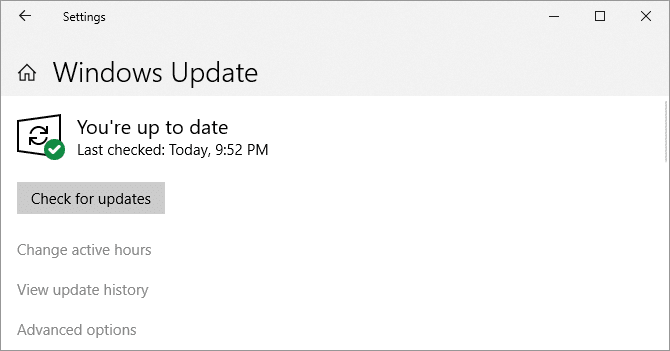update windows 10 updates window
