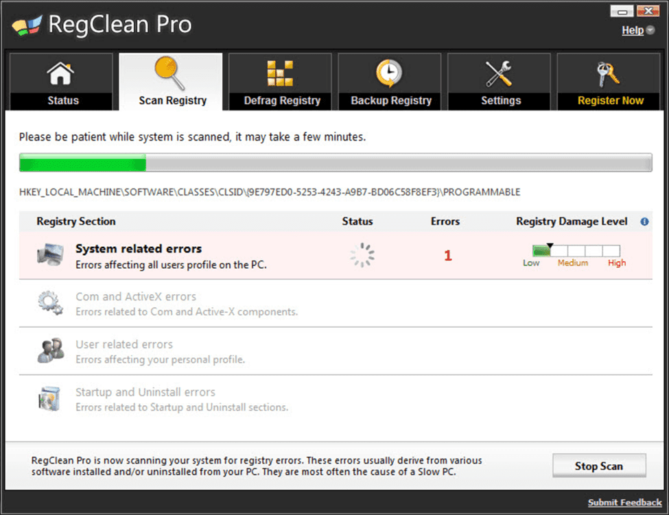 RegClean Pro - speed up your PC