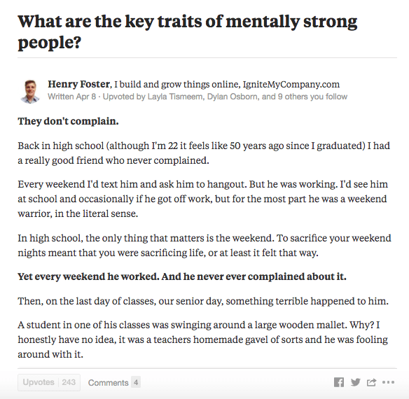 Tell Stories in quora