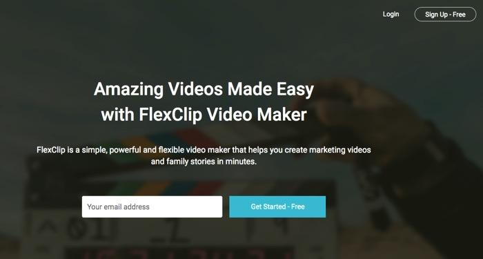 FlexClip - A Web Application for Editing Videos Online for Free