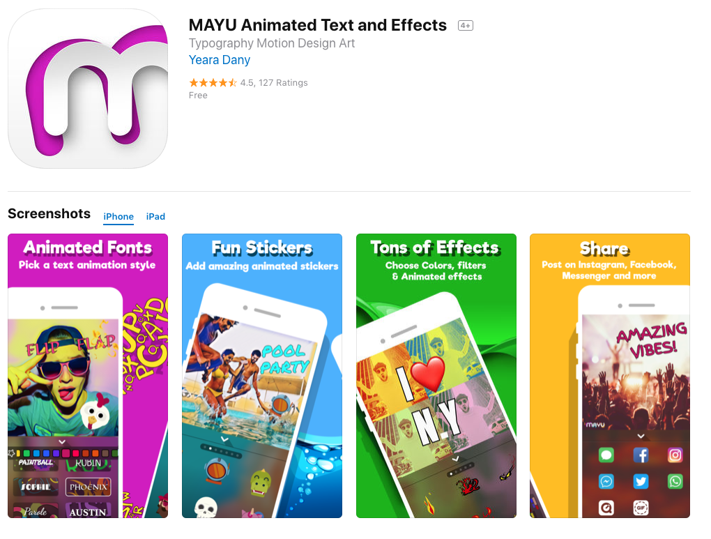 MAYU mobile  animation apps