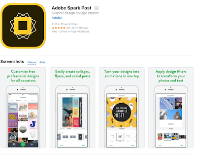 Adobe Spark Post mobile  animation apps