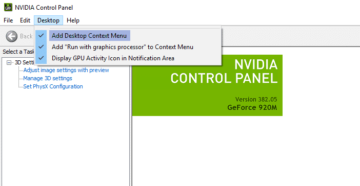 unhide your NVIDIA Control Panel - Nvidia control panel missing