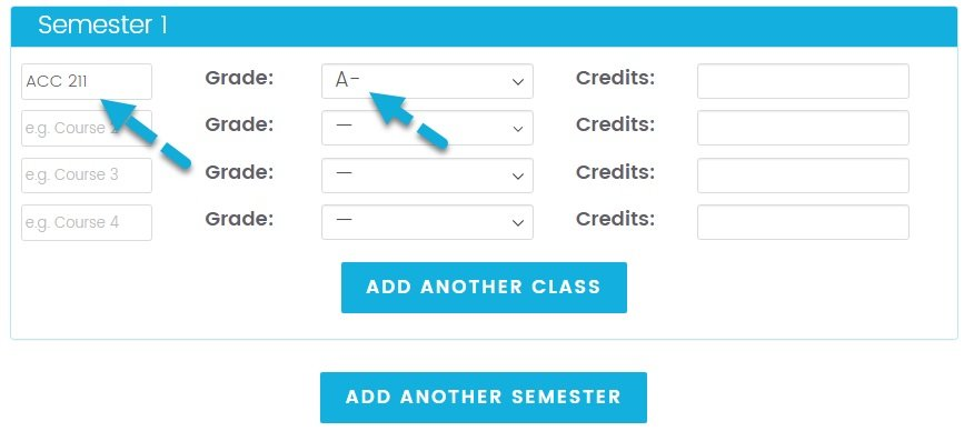 College GPA Calculators