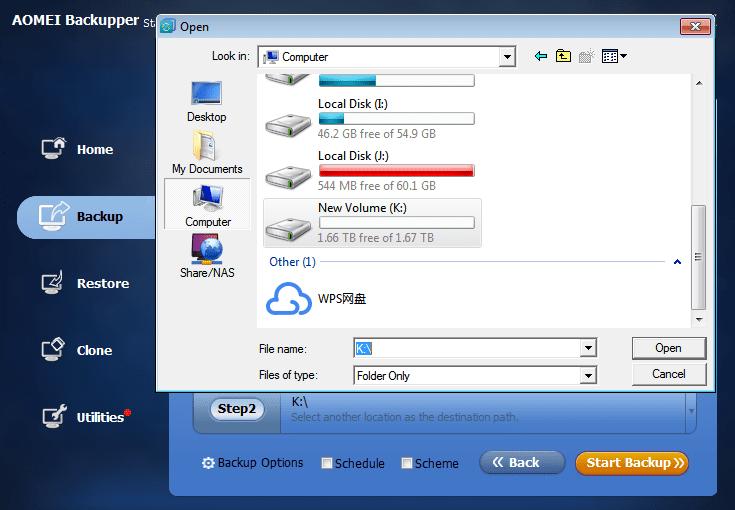 AOMEI - Backup Windows to an External Disk