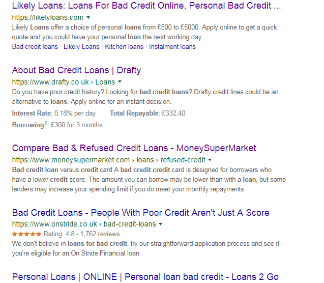 SEO helps in loan business: situation 1