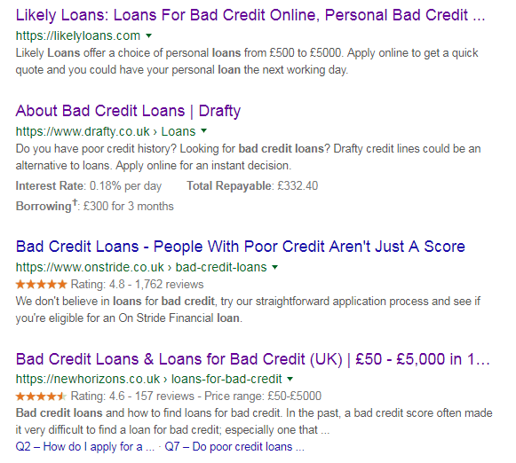 SEO helps in loan business: situation 2