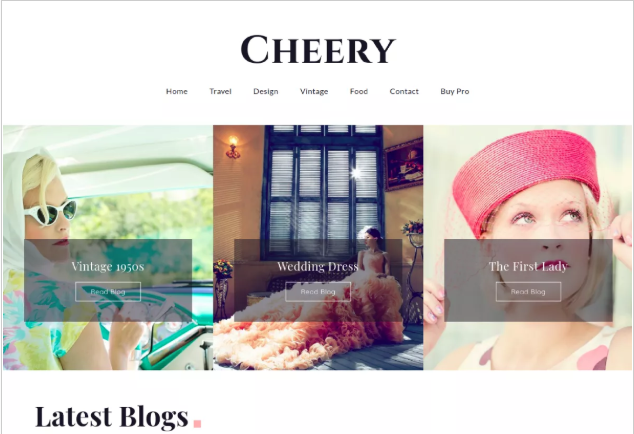 Cheery WordPress Themes for Writers