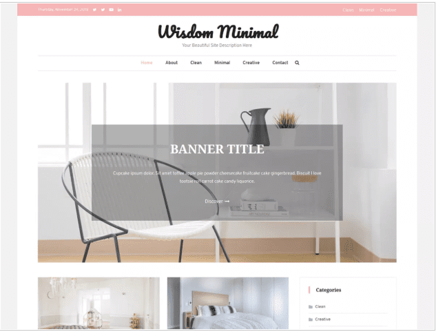 Banner WordPress Themes for Writers