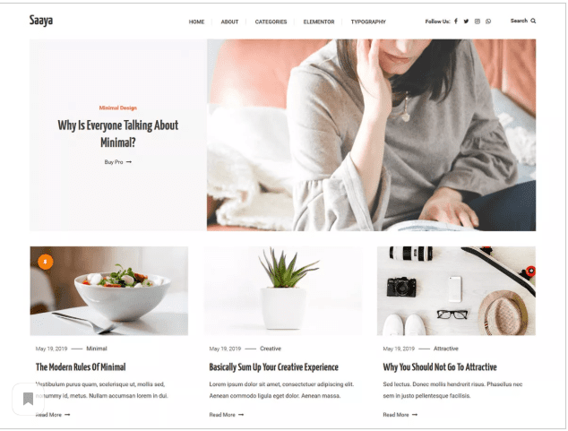 saaya  WordPress Themes