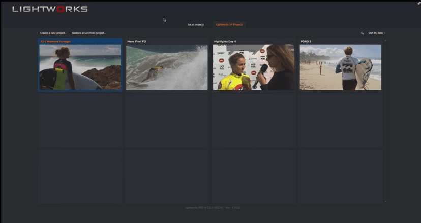 Lightworks Free & Affordable Movie Editors for Mac