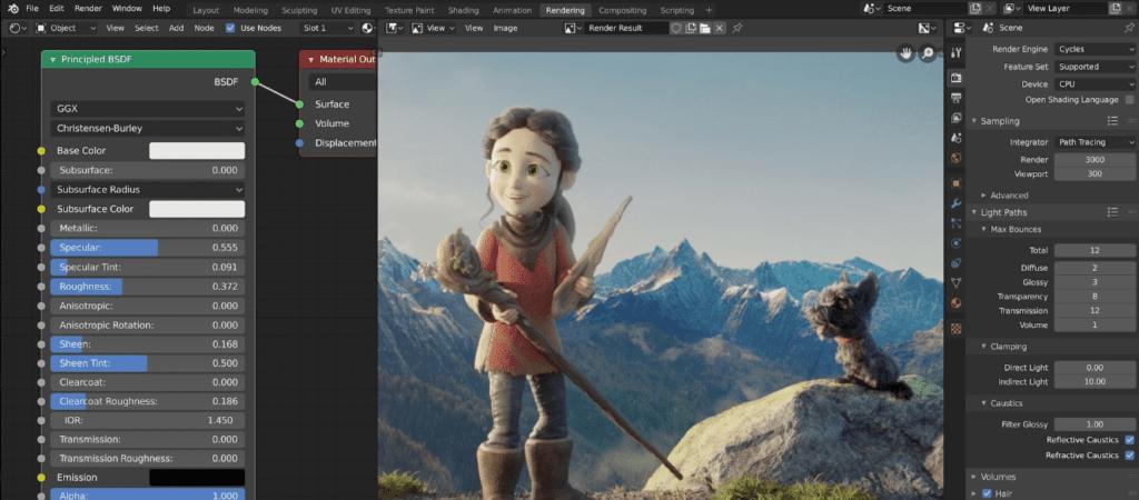 Blender Free & Affordable Movie Editors for Mac