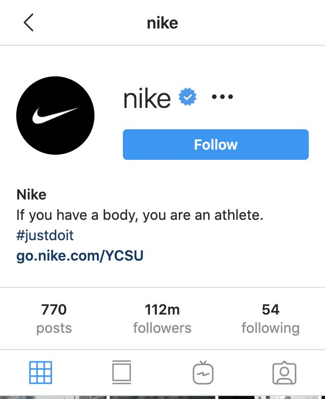 Nike Instagram followers