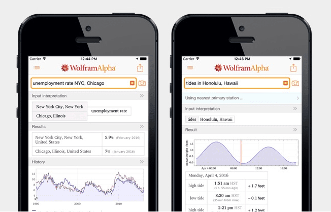 WolframAlpha Mobile app