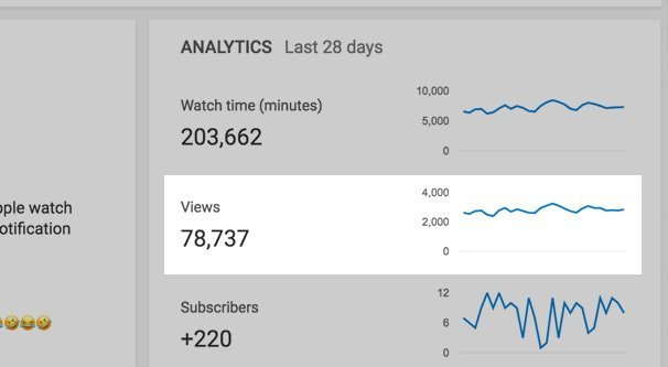 Youtube view counts