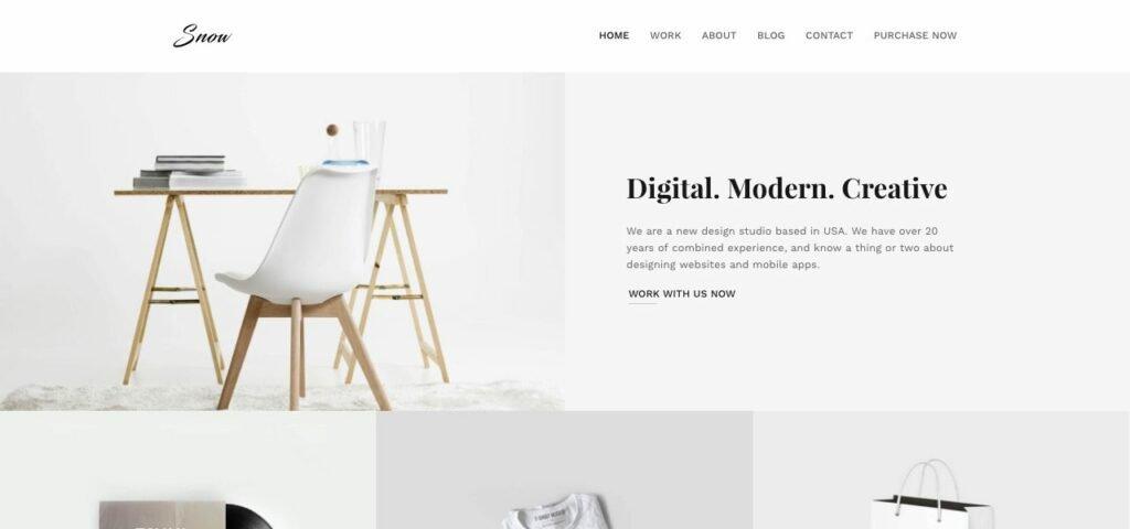Minimal design modern design